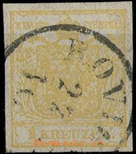 28237 - 1850 I.emise,Mi.1, 1 Kr, HP, type Ib., on reverse offset, CD
