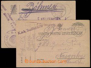 28254 - 1916-17 K.u.K EP Durz (Albania), comp. 2 pcs of FP cards wit