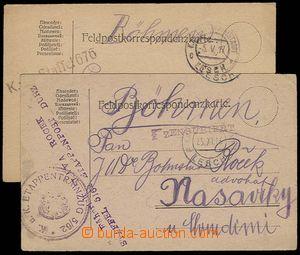 28261 - 1916-17 K.u.K Etappenpostamt Lesch (Albania), comp. 2 pcs of