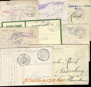 28266 - 1914-17 comp. 10 pcs of cards, Ppc and letters with various
