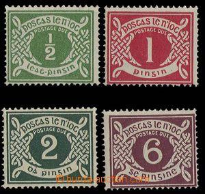 28288 - 1925 Mi.P1-4, doplatní, 1x lom růžku, nepatrná stopa po
