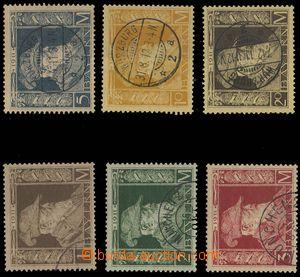 28308 - 1911 selection of Mi.86/I., 87/II., 88-91/I., nice, c.v.. 17