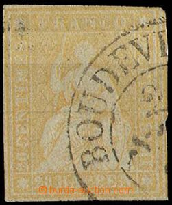 28346 - 1854 Mi.16/II., on reverse written ink, c.v.. 65€