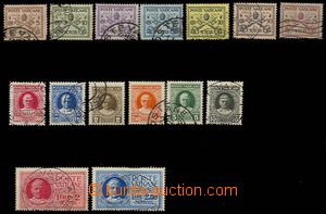 28348 - 1929 Mi.1-15, some stamps light brown stains, to examination