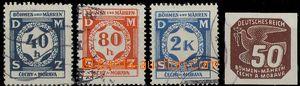 28371 - 1941 double - skidding print at value 40h, 80h, 2 Koruna the