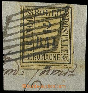 28373 - 1859 Mi.3, 2Baj,  cut square, cat. only stmp 350€