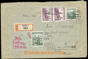 28385 - 1939 7x heavier Reg letter to Slovakia franked with. paralle