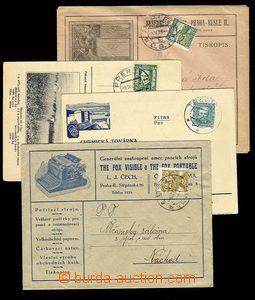 28401 - 1920-34 4ks celistvostí, mj.  obálka firmy L.J.Čech psac�