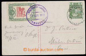 28406 - 1912 prošlá pohlednice s připlatkovou zn. Beskiden Verin