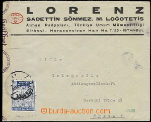 28408 - 1940 commercial letter sent from Istanbul 2.7.40 to Prague,