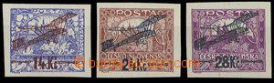 28438 - 1920 I.emise, Pof.L1-3, pěkné kusy, ale L2 těsnější st
