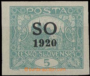 28441 -  Pof.SO3, 5h blue-green imperforated, superb, exp. Gilbert,