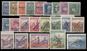 28443 - 1939 Alb.2-22, Overprint issue incl. 19a+b, complete set of,