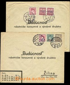 28462 - 1939 2 pcs of heavier commercial response letters sent from