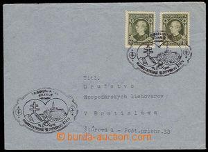 28463 - 1939 letter with oval black cancel. Pribinova Nitra celebrat