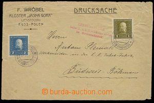 28468 - 1915 dopis jako tiskopis, vyfr. známkami FP Mi.22 a 23, zas