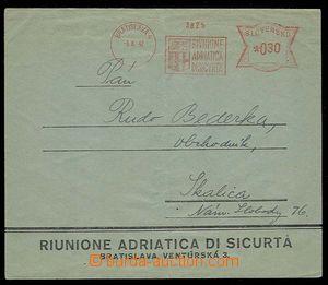 28481 - 1942 firemní obálka se slovenským OVS Rivnione Adriatica