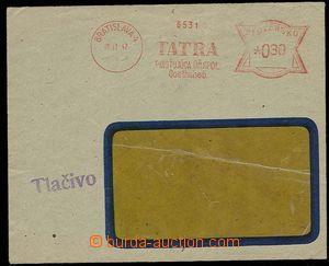28483 - 1942 okénková obálka se slovenským OVS TATRA pojišťovn