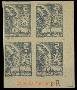 28506 - 1945 Košické,  levý rohový 4-blok hodnoty 5K s DZ A1 a p