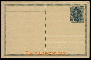 28529 - 1918 CDV1b, blue-green overprint, on reverse commercial addi