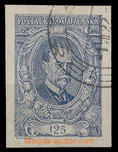 28597 - 1920 Pof.140 I, imperforated 125h, light CDS, c.v.. 400CZK