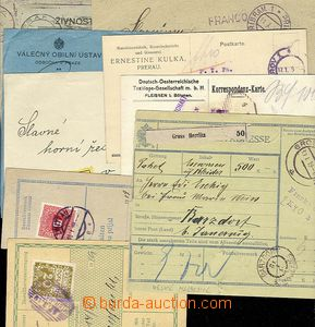 28638 - 1919 ČSR I  partie 10ks celistvostí, ústřižků, předn�
