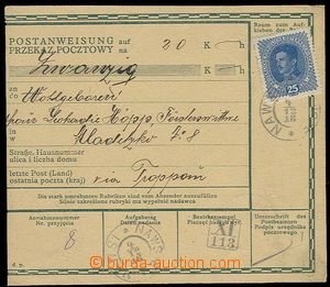 28715 - 1918 Austrian forerunner postal order in/at German - Polish