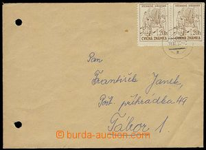 28746 - 1955 CVIČNÉ ZNÁMKY  dopis vyfr. 2ks cvič. zn. 20h hněd�