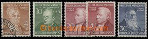 28757 - 1952 Mi.156-159, 158 I + II, kat. 150€