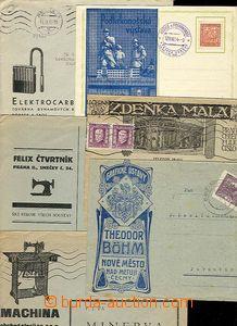 28777 - 1919-37 sestava 6ks celistvostí s reklamními přítisky, m