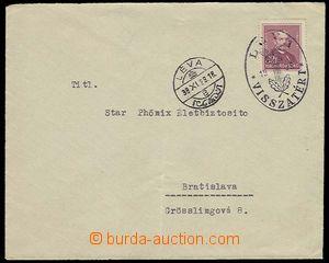 28804 - 1938 dopis do Bratislavy, vyfr. maď. známkou Mi.497, DR L�
