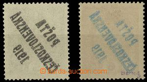 28880 -  Pof.34, 35 both stamps with overprint offset, hinged in fro
