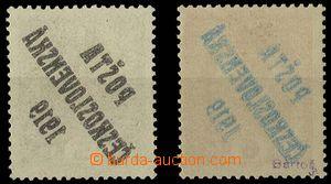 28880 -  Pof.34, 35 obě známky s obtiskem přetisku, stopa po nál