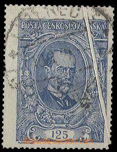 28894 - 1920 Pof.140, nice oblique paper crease, exp. by Stupka