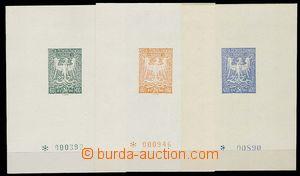 28900 - 1945 Olomoucké vydání - Orlice  3ks aršíků se zn. 60h