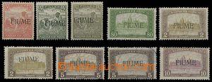 28936 - 1918 sestava 9ks maďarských zn. s přetiskem, Mi.12, 2x 17