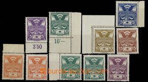 28951 - 1920 Pof.143-150A, complete set with both types, 2x control-