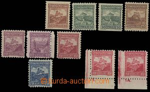 29037 - 1926 Malé krajinky, Pof.209-215, kompl. série, různé pr�