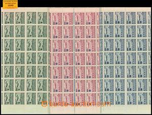 29068 - 1949 Přetisková provizoria  sestava 4 hodnot v horním a d