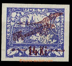 29070 - 1920 Pof.L1, nezoubkovaná, pěkné okraje, zk. Karásek, ka