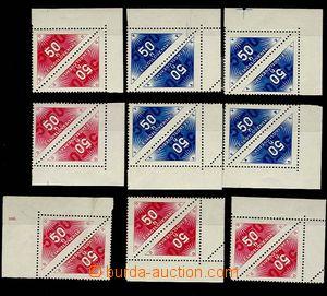 29074 - 1937 Pof.DR1-2A, Pof.DR1-2B, corner pieces, DR2A whole plate