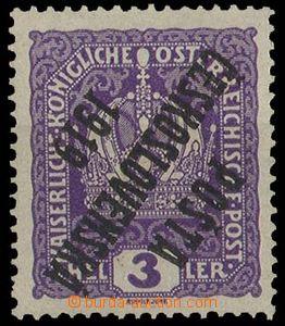 29094 -  Pof.33P, 3h fialová Koruna  s převráceným přetiskem, r