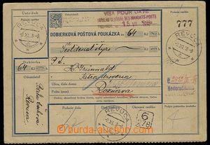 29120 - 1938 slovenská mutace dobírkové pošt. poukázky II.čás