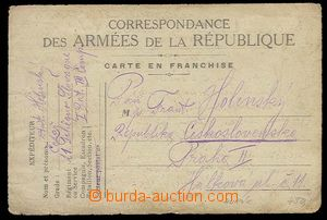 29135 - 1918 FRANCE  card French FP with additional-printing Y.M.C.A