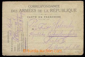 29135 - 1918 FRANCIE  lístek francouzské PP s přítiskem Y.M.C.A.