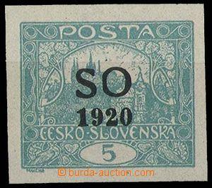 29163 -  Pof.SO3, 5h imperforated, Opt flaw L cut O,  practically li