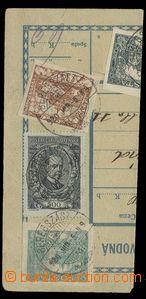 29167 - 1920 ústřižek pošt. průvodky vyfr. mj. zn. 500h TGM, Po