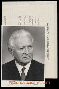 29190 - 1968 SVOBODA Lewis (1895–1979), Czechoslovak president, ph