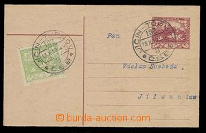 29216 - 1919 uprated by. PC CDV10 stmp 5h with 2 print railway pmk �