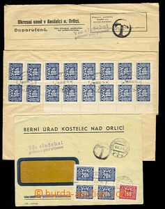 29224 - 1946-47 comp. 3 pcs of official entires, where postal-charge